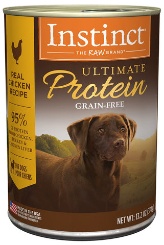 Nature's Variety Instinct Ultimate Protein Grain Free Chicken Formula Canned Dog Food
