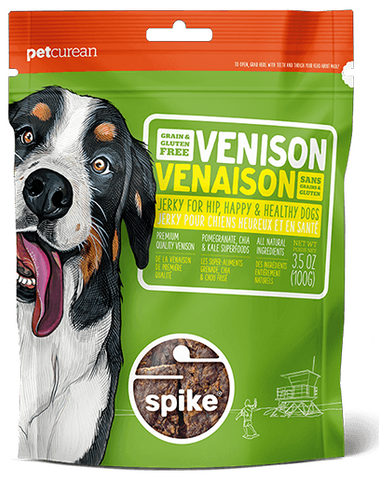 Petcurean Spike Grain Free Venison Jerky for Dogs