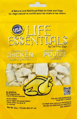 Cat-Man-Doo Grain Free Chicken Freeze-Dried Cat and Dog Treats