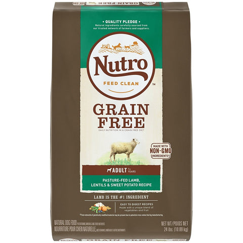 Nutro Grain Free Adult Pasture-Fed Lamb, Lentils And Sweet Potato Dry Dog Food