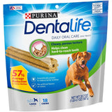 Purina Dentalife Daily Oral Care Adult Large Breed Chicken Flavor Dog Treats