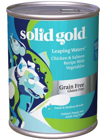 Solid Gold Grain Free Leaping Waters Small and Medium Breed with Chicken and Salmon Canned Dog Food