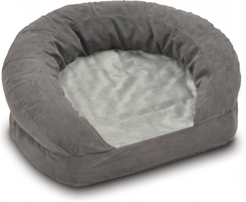K&H Pet Products Ortho Bolster Velvet Sleeper Pet Bed