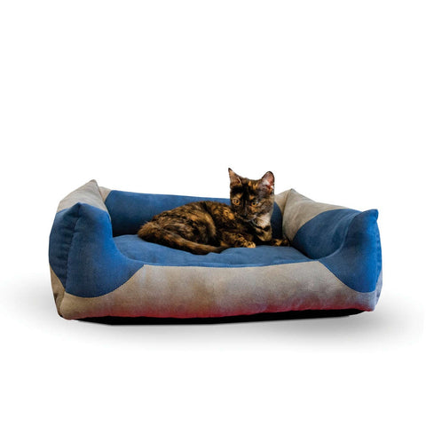 K&H Pet Products Classy Lounger Gray/Blue Pet Bed