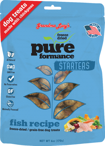 Grandma Lucy's Pureformance Starters Fish Recipe Freeze Dried Dog Treats