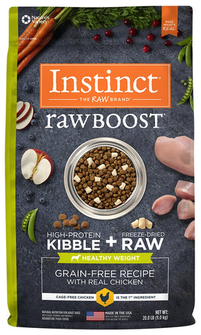Nature's Variety Instinct Raw Boost Healthy Weight Adult Grain Free Recipe with Real Chicken Natural Dry Dog Food