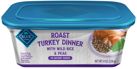 Blue Buffalo Roast Turkey Dinner with Wild Rice and Peas Dog Food Tray