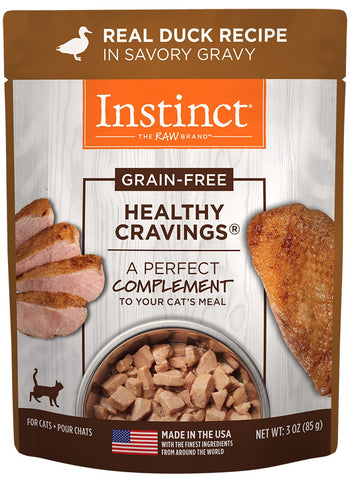 Nature's Variety Instinct Healthy Cravings Grain Free Real Duck Recipe Natural Wet Cat Food Topper