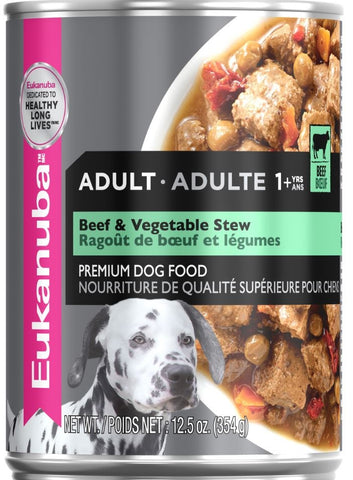 Eukanuba Adult Beef and Vegetable Stew Canned Dog Food