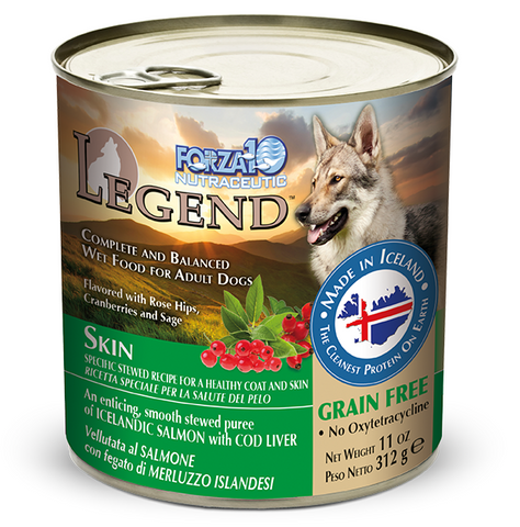 Forza10 Legend Skin Salmon Recipe with Cod Liver Canned Dog Food