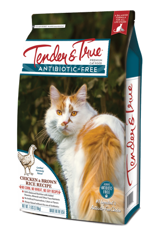 Tender & True Antibiotic-Free Chicken and Brown Rice Recipe Dry Cat Food