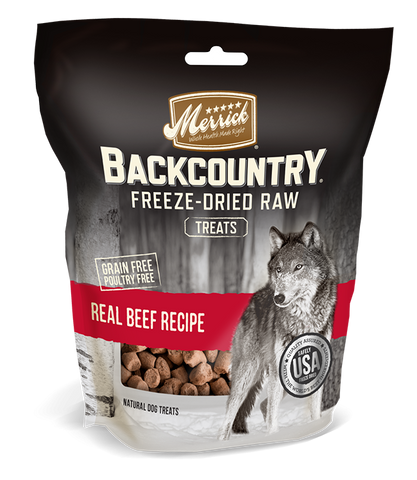 Merrick Backcountry Freeze Dried Grain Free Real Beef Recipe Dog Treats