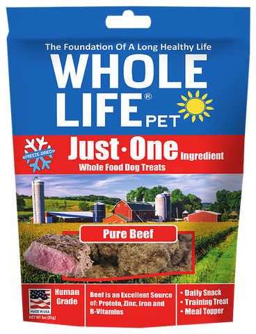 Whole Life Just One Grain Free Pure Beef Freeze Dried Dog Treats