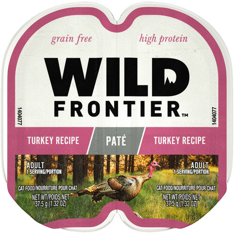 Wild Frontier Perfect Portions Grain Free Real Turkey Pate Wet Cat Food Trays