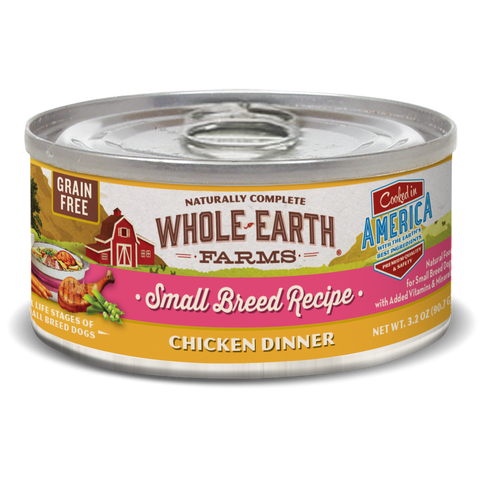 Whole Earth Farms Grain Free Small Breed Chicken Recipe Canned Dog Food