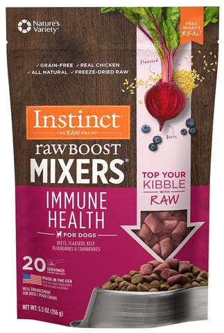 Nature's Variety Instinct Grain Free Freeze Dried Raw Boost Mixers Immune Health Recipe Dog Food Topper