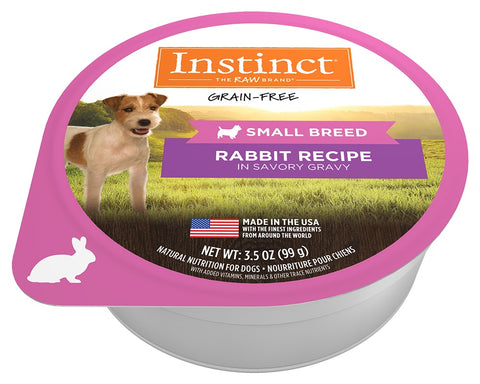 Nature's Variety Instinct Grain Free Small Breed Rabbit Recipe Wet Dog Food Cups