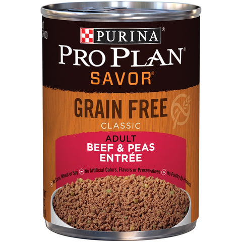 Purina Pro Plan Savor Grain Free Classic Adult Beef & Peas Entree Canned Dog Food