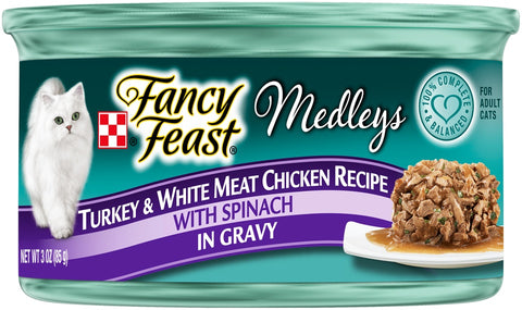 Fancy Feast Medleys Turkey & Chicken Recipe Canned Cat Food
