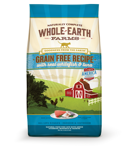 Whole Earth Farms Grain Free Real Whitefish and Tuna Dry Cat Food
