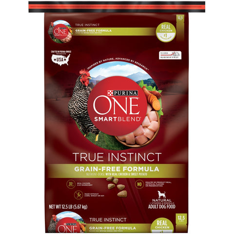 Purina ONE SmartBlend True Instinct Grain Free Chicken & Sweet Potato Dry Dog Food