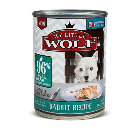 My Little Wolf Grain Free 96% Rabbit Recipe Canned Dog Food