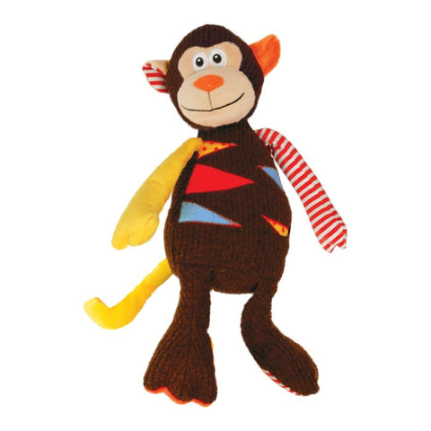 KONG Patches Monkey Plush Dog Toy