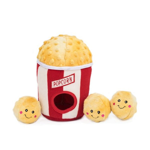 ZippyPaws Zippy Burrow Popcorn Bucket Hide and Seek Puzzle Dog Toy