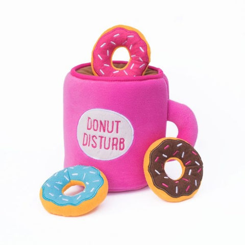 ZippyPaws Zippy Burrow Coffee and Donutz Hide and Seek Puzzle Dog Toy