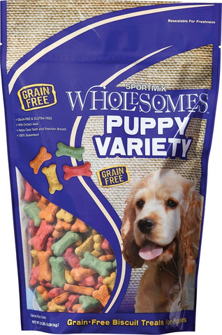 SPORTMiX Wholesomes Puppy Variety Biscuits Grain Free Dog Treats