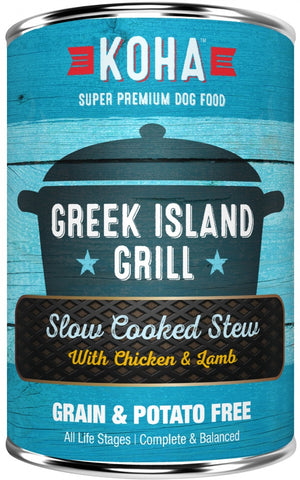 KOHA Grain & Potato Free Greek Island Grill Slow Cooked Stew with Chicken & Lamb Canned Dog Food