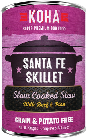 KOHA Grain & Potato Free Santa Fe Skillet Slow Cooked Stew with Beef & Pork Canned Dog Food