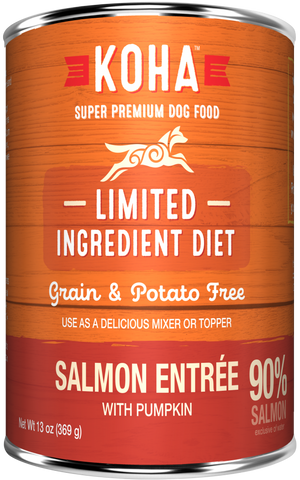 KOHA Grain & Potato Free Limited Ingredient Diet Salmon Entree with Pumpkin Canned Dog Food