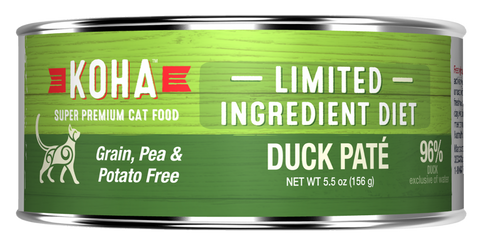 KOHA Grain & Potato Free Limited Ingredient Diet Duck Pate Canned Cat Food