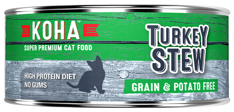 KOHA Grain & Potato Free Turkey Stew Canned Cat Food