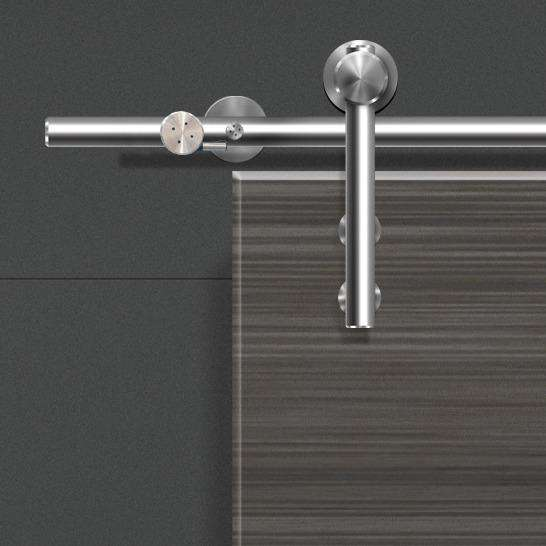 Hafele Unotec Home Solid Stainless Steel Track Set - Stellar Hardware and Bath