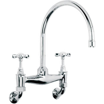 "Lefroy Brooks LB-1518  Classic Bridge Mixer-Wall Mounted   13-3/8"" H - Stellar Hardware and Bath"