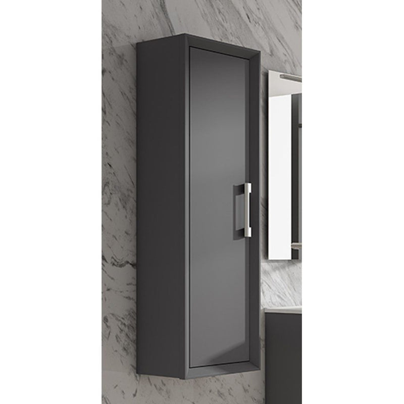 Lucena Bath Grey Décor Tirador Tall Unit - Stellar Hardware and Bath