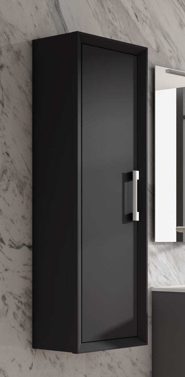 Lucena Bath Black Décor Tirador Tall Unit - Stellar Hardware and Bath