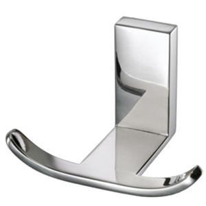 Cool Lines 470205  Vision Stainless Double Robe/Towel Hook - Stellar Hardware and Bath