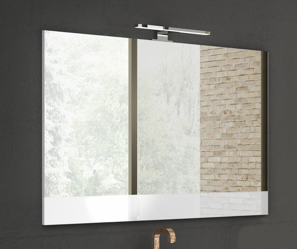 "Lucena Bath 24"" White vision mirror - Stellar Hardware and Bath"