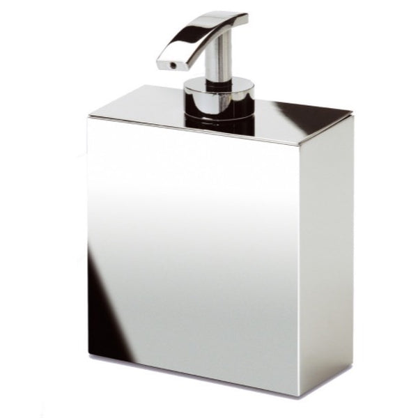 Box Metal Lineal Box Shaped Chrome, Gold Finish, or Satin Nickel Wall Mounted Soap Dispenser - Stellar Hardware and Bath