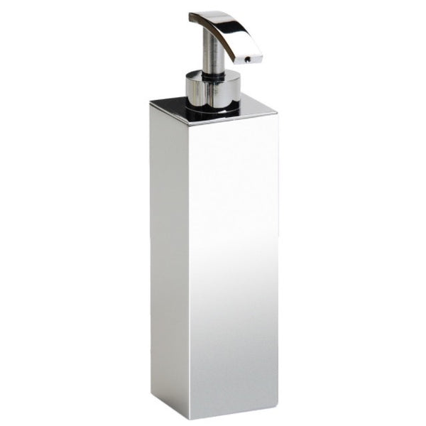 Box Metal Lineal Wall Mounted Tall Square Brass Soap Dispenser - Stellar Hardware and Bath