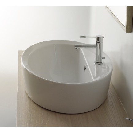 Matty Oval-Shaped White Ceramic Drop In Sink - Stellar Hardware and Bath