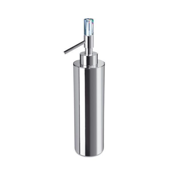 Concept Line Contemporary Brass Soap Dispenser with Swarovski Crystal - Stellar Hardware and Bath