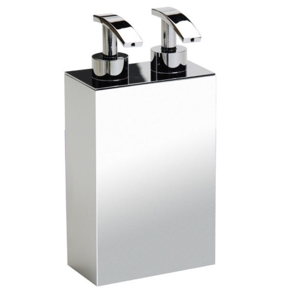 Box Metal Lineal Square Wall Mounted Brass Soap Dispenser with Two Pump(s) - Stellar Hardware and Bath