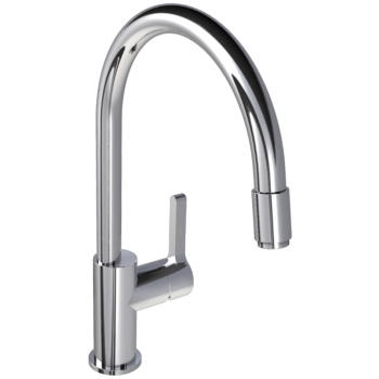 "Lefroy Brooks K1-3400 Single Lever Kitchen Mixer With Pull-Out 15-1/4"" H - Stellar Hardware and Bath"