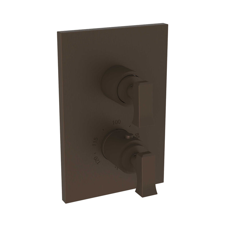 "Newport Brass Joffrey 3-2573TS 1/2"" Square Thermostatic Trim Plate with Handle - Stellar Hardware and Bath"