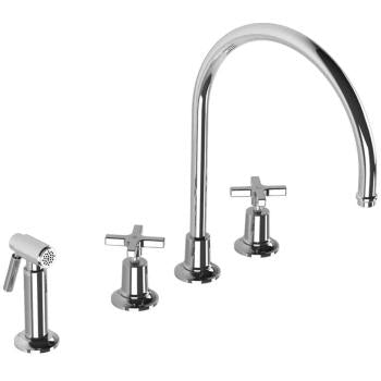 "Lefroy Brooks M2-4708  Fleetwood Kitchen Faucet With Sidespray 13-5/8"" H - Stellar Hardware and Bath"