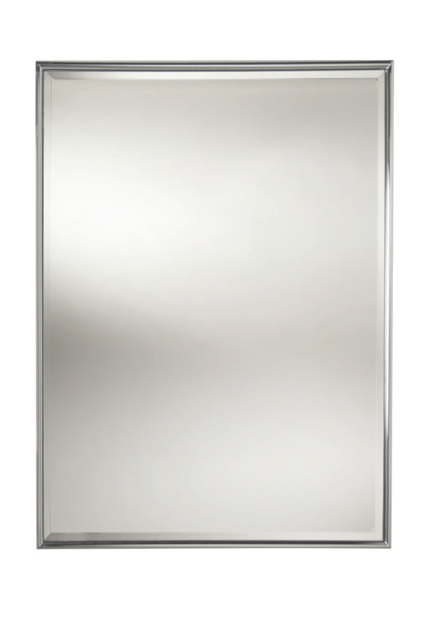Valsan Essentials Chrome Rectangular Framed Mirror with Bevel
